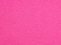 Jersey uni melange, pink