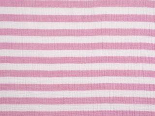 Musselin Streifen, cremeweiß rosa