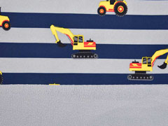 Softshell Streifen Bagger Traktoren, dunkelblau grau