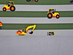 Softshell Streifen Bagger Traktoren, khaki grau