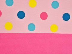 Softshell Punkte, bunt rosa