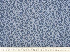 Jacquard Jersey Leopardenmuster, jeansblau