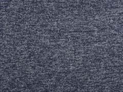 Strickstoff Rippenstruktur, dunkelblau meliert