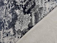 Wildlederimitat Animal Print Foliendruck, schwarz beige