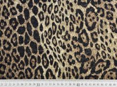 Strickjersey Leopardenmuster Glitzer, beige