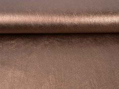 Lederimitat Schlangenprägung, bronze metallic