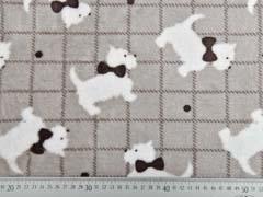 Wellness Fleece Doubleface Hunde Karo, dunkelbraun helltaupe