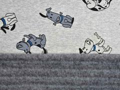 Alpenfleece Sweat UV-Licht Farbeffekt Hunde, grau meliert