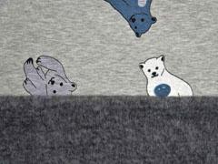 Alpenfleece Sweat Eisbären, grau meliert