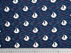 Jersey Segelboote Anker Wellen, dunkelblau