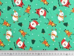 Jersey Weihnachtsmänner Elche, grün