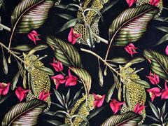 Jersey Digitaldruck Leoparden im Dschungel