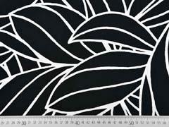Viskose Blätter Konturen, weiss schwarz