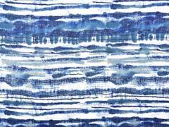 Viskose Crepe Blusenstoff Streifen Batik, navy petrol