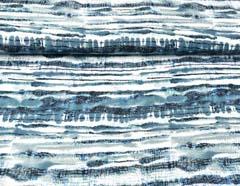 Viskose Crepe Blusenstoff Streifen Batik,  mint schwarz ercrue