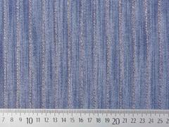 Viskose Jeanslook Glitzer Streifen, kupfer jeansblau