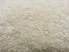 Teddyfleece Teddyfell aus Baumwolle, natur