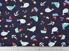 Jersey Segelboote Wale Haie Anker, dunkelblau