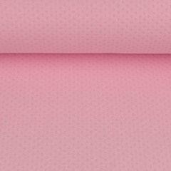 Jerseystoff Ajour Muster uni, rosa