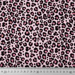 Musselin Stoff Double Gauze Leoparden Muster, altrosa