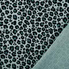 Musselin Stoff Double Gauze Leoparden Muster, mint