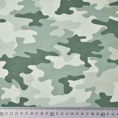 Sweatstoff French Terry Camouflage, mintgrün dunkelgrün