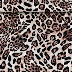 Viskose Twill Leopardenmuster, braun