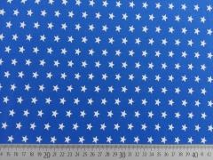 Jersey Sterne 1 cm, weiss auf royalblau