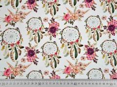 Jersey Digitaldruck Traumfänger Rosen, cremeweiß