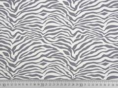French Terry Sweat Zebramuster, grau