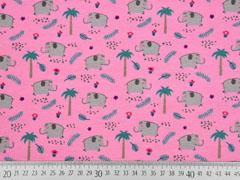 Jersey Elefanten Palmen, rosa