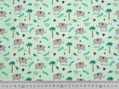 Jersey Palmen Elefanten, hellmint