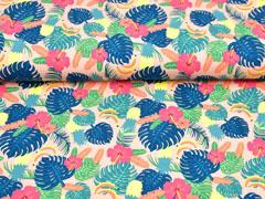 Jersey Aloha tropische Blätter Ananas, apricot