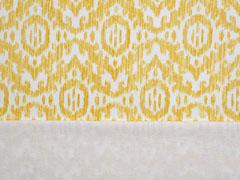French Terry Sweat Boho Ornamente, ocker weiß