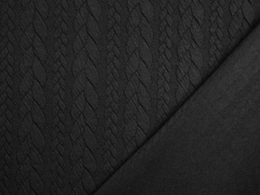 Jacquard Zopfmuster, schwarz