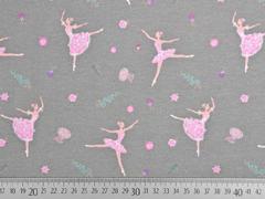 Jersey Jersey Ballerinas, rosa taupe