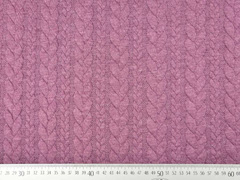 Jacquard Zopfmuster, beere
