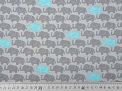 Jersey Elefanten, türkis grau