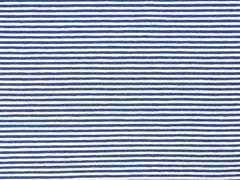 Jersey Streifen 3 mm, dunkles jeansblau weiß