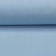 Strickstoff Baumwolle Meterware uni, hellblau