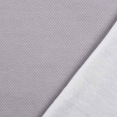Jacquard Sweatstoff Drizzle Kästchenmuster, weiß taupe