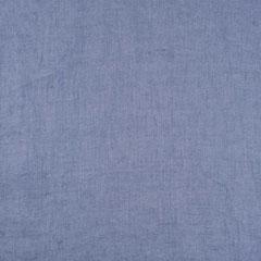 Leinenstoff gewaschen uni, jeansblau