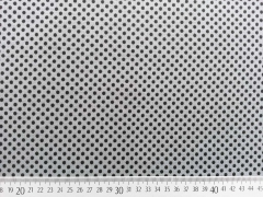 Jersey Punkte 3mm - dunkelgrau auf grau