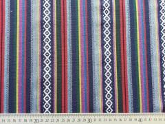 Dickerer Stoff Streifen Borten, blau/lila