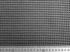 RESTSTÜCK 66 cm Waffelpiqué Frottee, dunkelgrau