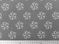 Jersey Rädchen Blume dunkelgrau
