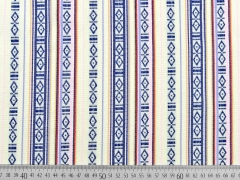 Dickerer Stoff Streifen Borten, vanille/dunkelblau