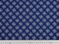 Baumwoll maritim Kompass, dunkelblau