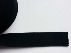 Gurtband Baumwolle 4 cm breit, schwarz #14