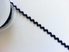 Zackenlitze Cotton 10 mm, dunkelblau